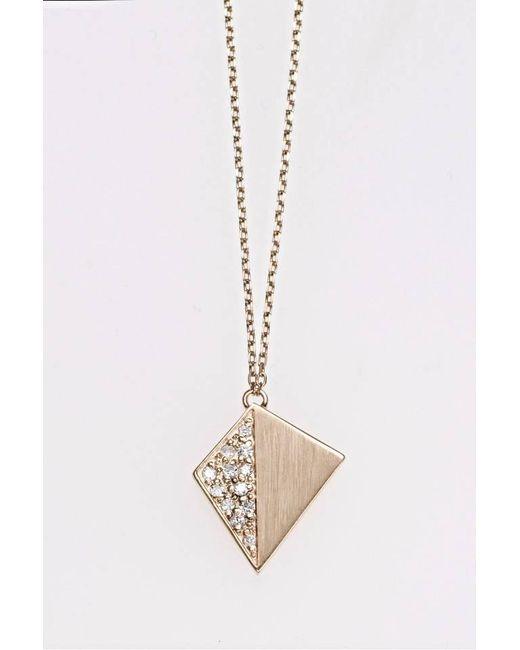 Liza Belachew | Metallic Share The Art Diamond No3 Necklace | Lyst