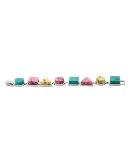 Eshvi - Multicolor Back To School Marble Link Bracelet - Lyst