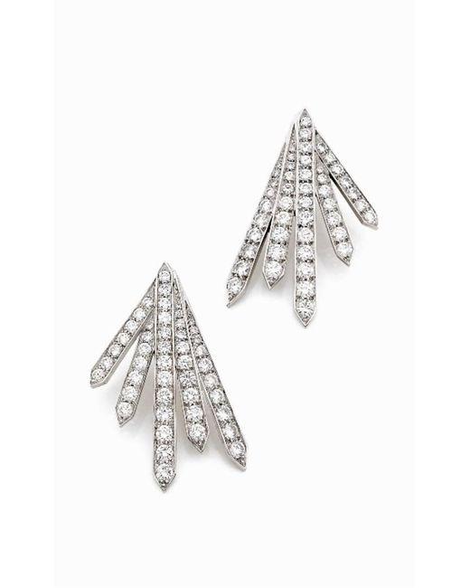 Stéphanie Deydier - White Siku Diamond Pave Sunburst Earrings - Lyst