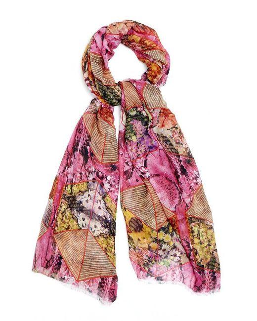 Kekkai - Multicolor Flower Cubes Cashmere Blend Scarf - Lyst
