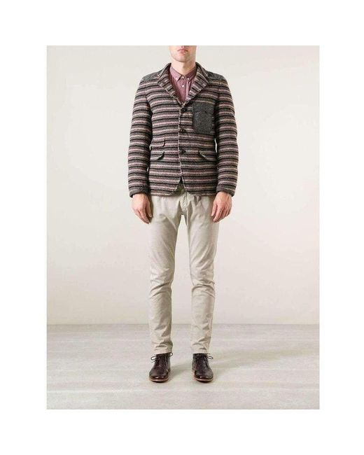Junya Watanabe Brown Duvetica Padded Multi Colored Button Up Jacket for men