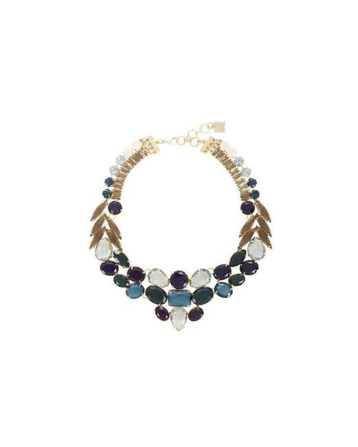 BCBGMAXAZRIA Blue Multi Color Stone Statement Necklace for men