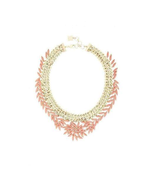 BCBGMAXAZRIA Multicolor Woven Stone Necklace