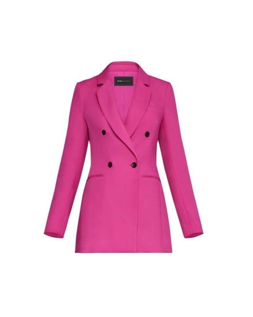 BCBGMAXAZRIA Pink Long Double Breasted Blazer