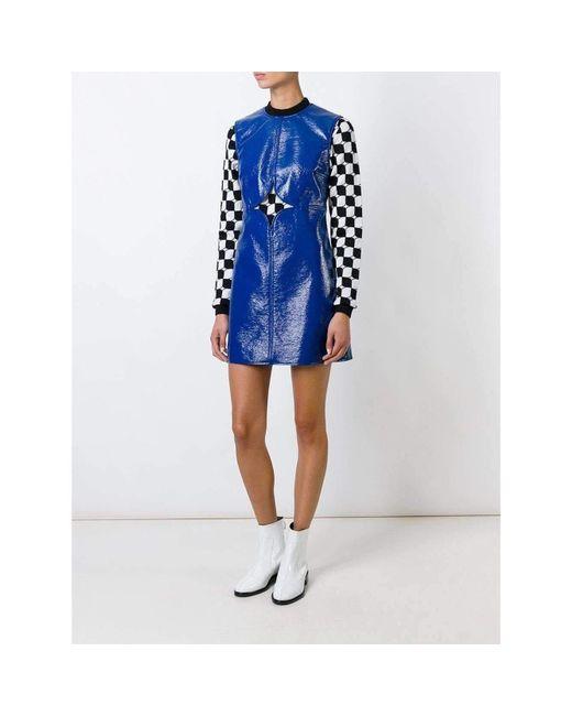 Courreges Blue Cut Out Detail Shift Dress