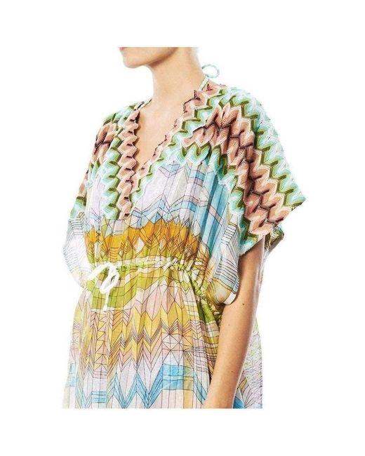 Missoni Yellow Knitwear Stampa Geometric Print Kaftan