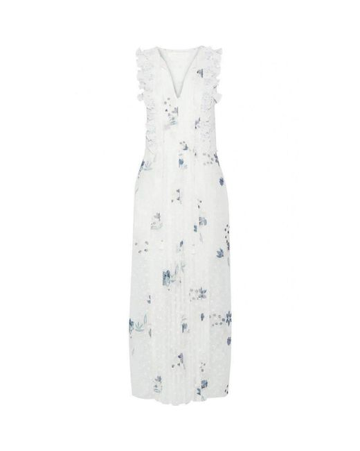 Chloé - Multicolor See By Ruffle Trimmed Printed Fil Coupe Maxi Dress - Lyst