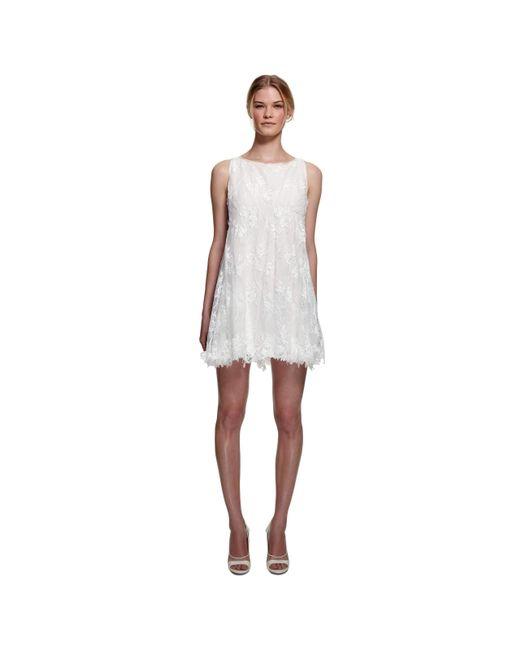 Nina Ricci Runway Bridal White Lace Dress Lyst