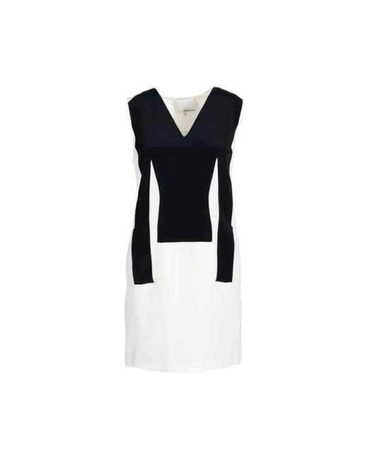 3.1 Phillip Lim Silk Sleeveless Black And White Dress