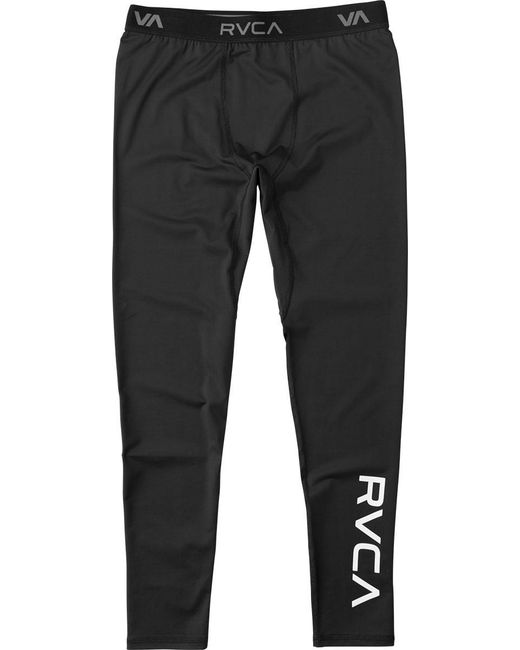 RVCA - Black Va Sport Compression Pant for Men - Lyst