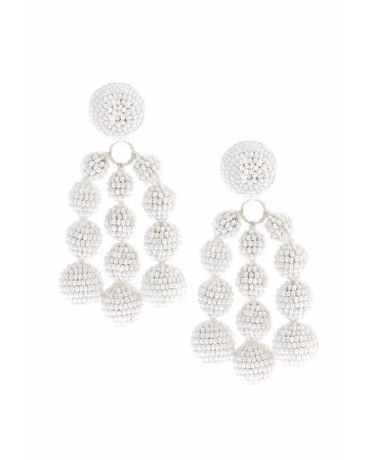 Sachin & Babi | Trinity Earrings | White | Lyst