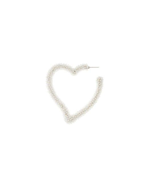 Sachin & Babi - Heart Hoop - White - Lyst