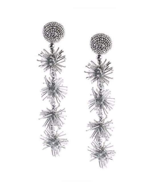 Sachin & Babi | Metallic Sparklers Earrings - Silver | Lyst