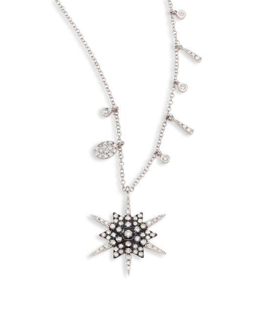 Meira T | Metallic Star Diamond & 14k White Gold Pendant Necklace | Lyst