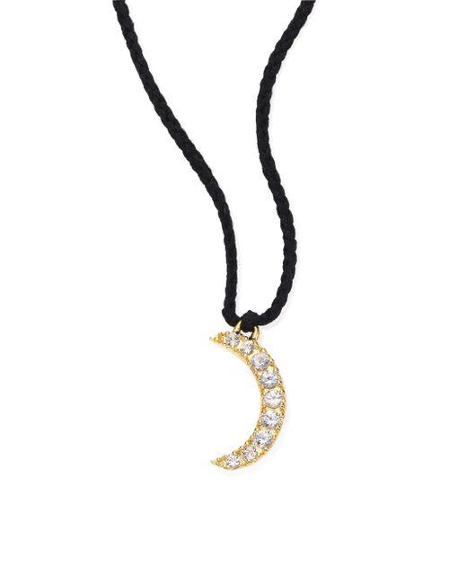 Elizabeth and James | Metallic Selene White Topaz Moon Necklace | Lyst