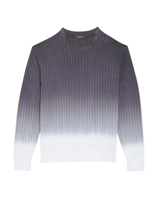 Theory Multicolor Caleb Dip-dye Crewneck Sweater for men