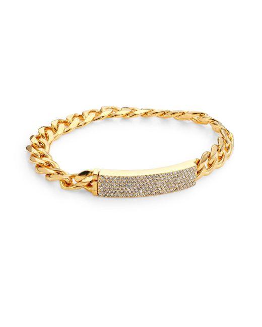 Adriana Orsini | Metallic Pave Id Bracelet | Lyst