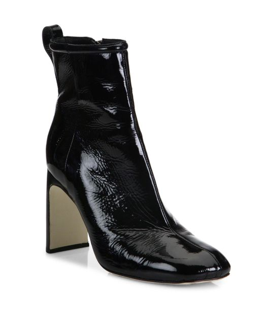 Rag & Bone   Black Ellis Patent Leather Ankle Boots   Lyst