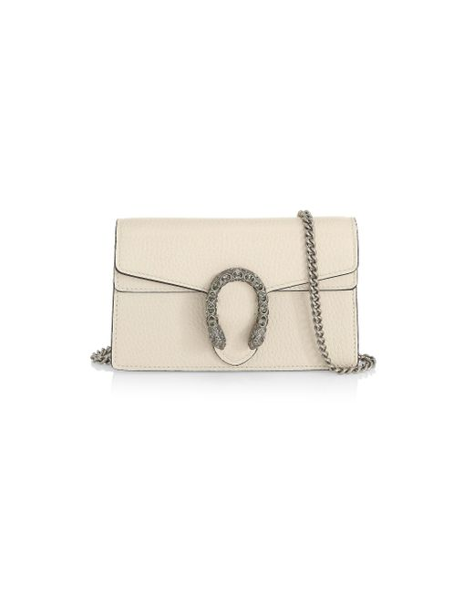 5f97f32a6 Gucci - Natural Supermini Dionysus Leather Shoulder Bag - Lyst ...