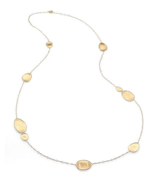 Marco Bicego Metallic Lunaria 18k Yellow Gold Station Necklace