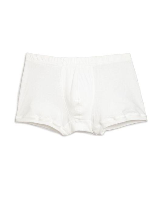 Hanro White Sea Island Cotton Cotton Boxer Briefs for men