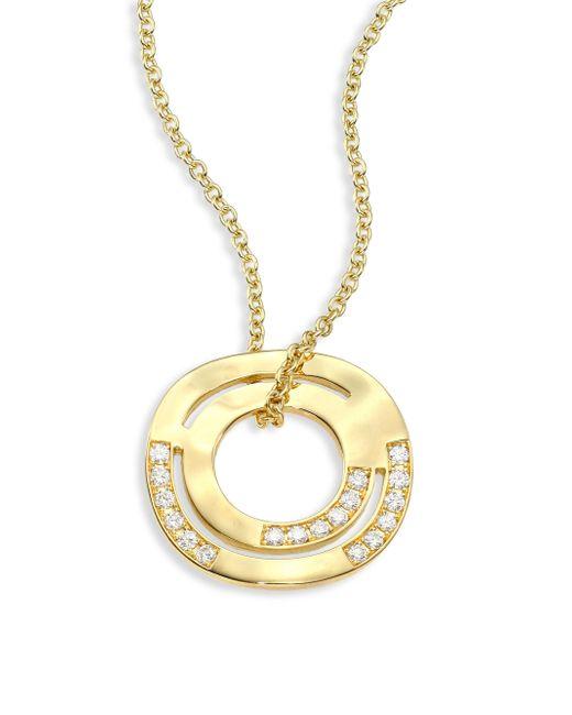 Ippolita | Metallic Sensotm Staggered Diamond Pave & 18k Yellow Gold Pendant Necklace | Lyst