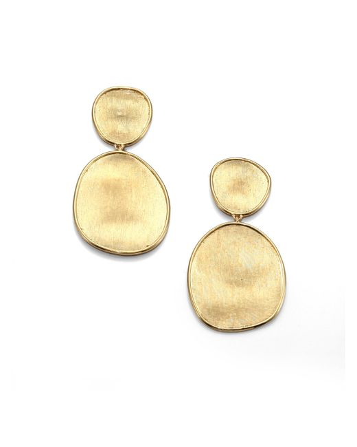 Marco Bicego - Metallic Lunaria 18k Yellow Gold Double-drop Earrings - Lyst