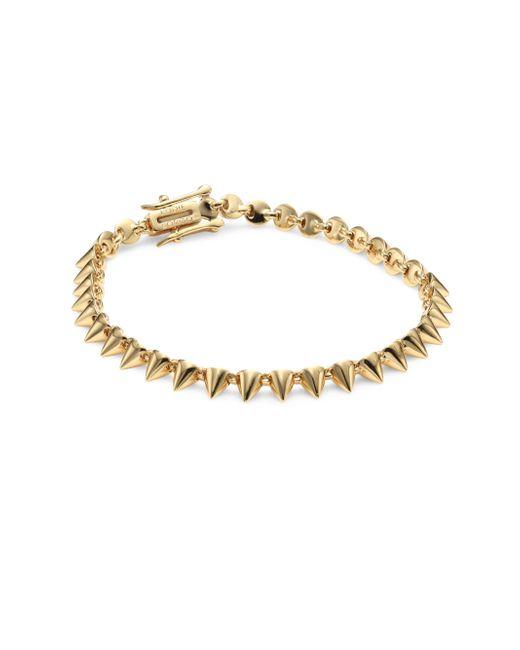 Eddie Borgo | Metallic Pave Crystal Mini Cone Bracelet/goldtone | Lyst