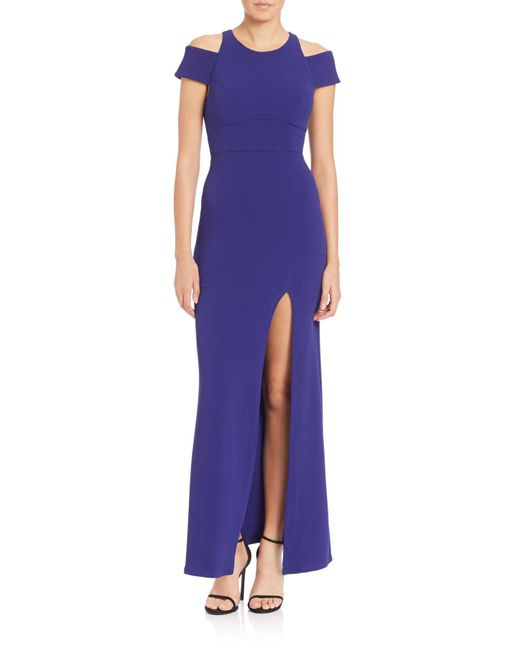 ABS By Allen Schwartz - Blue Cut-out Crepe Gown - Lyst