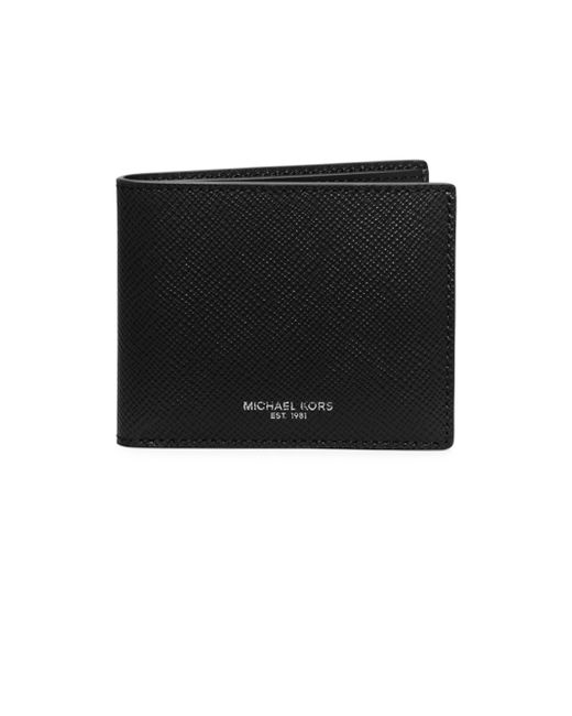 Michael Kors - Black Harrison Slim Billfold Wallet for Men - Lyst