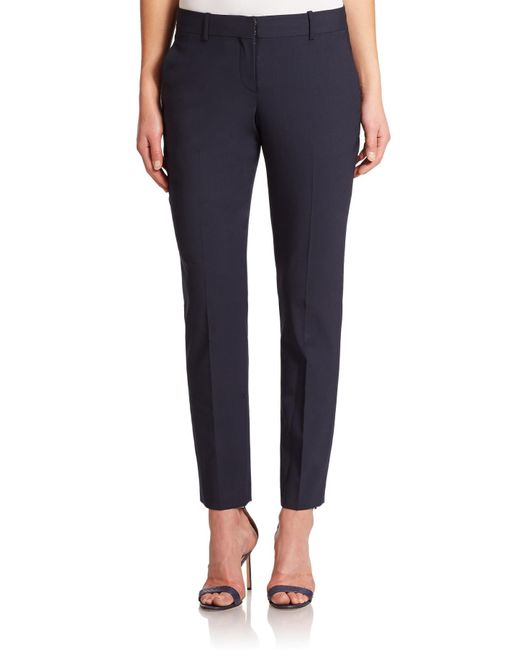 Theory | Blue Testra Edition Stretch Wool Cropped Pants | Lyst