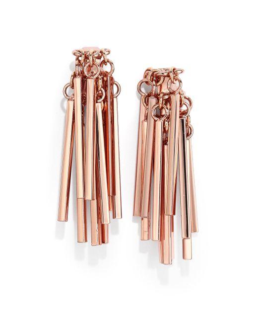 Eddie Borgo | Pink Bar Fringe Earrings | Lyst