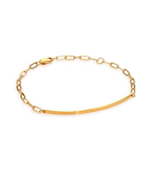 Jennifer Zeuner   Metallic Aviva Bar Chain Bracelet   Lyst
