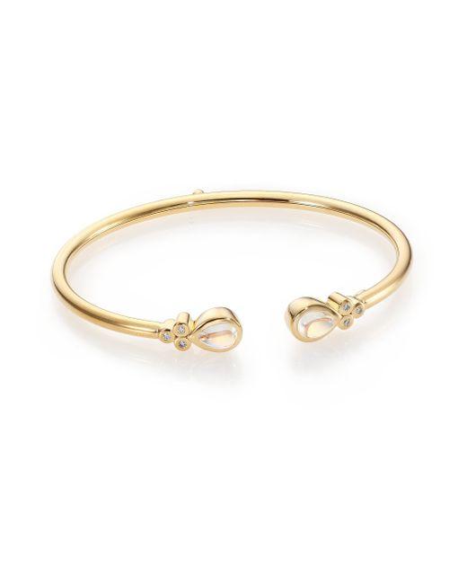 Temple St. Clair | Metallic Bellina Royal Blue Moonstone, Diamond & 18k Yellow Gold Bangle Bracelet | Lyst