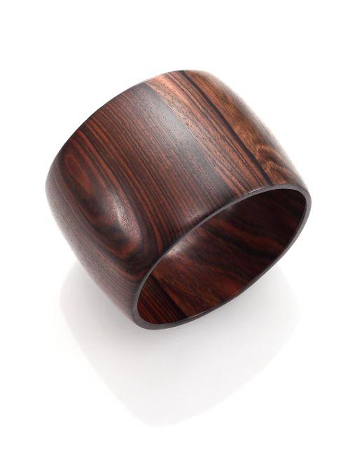 Nest   Black Ebony Wood Wide Bangle Bracelet   Lyst
