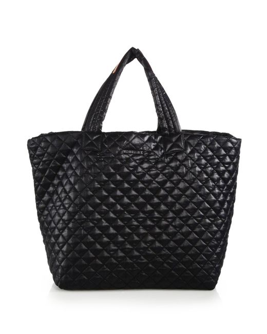 MZ Wallace   Black Metro Large Quilted Nylon Tote   Lyst