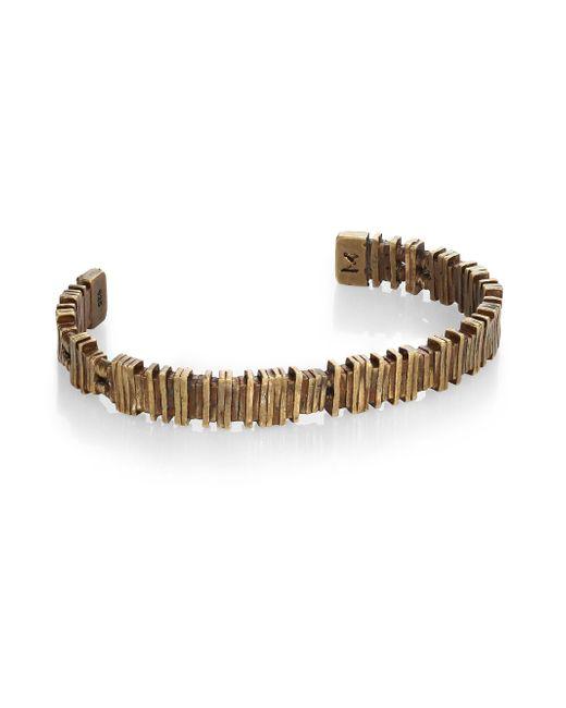 M. Cohen | Metallic Brass Barcode Cuff Bracelet | Lyst