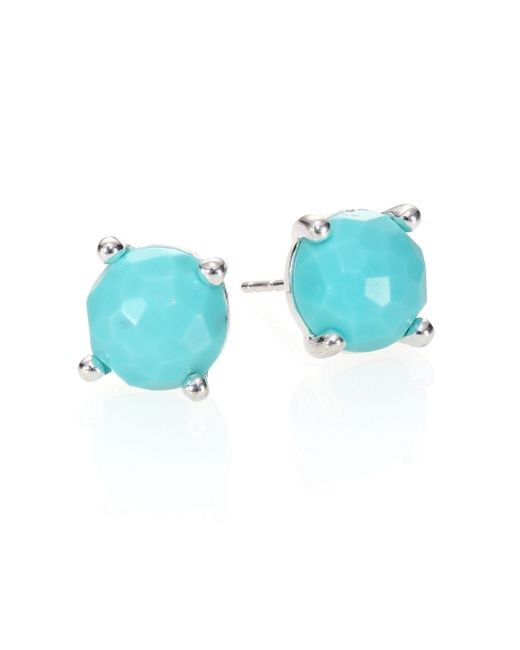 Ippolita | Blue Rock Candy Turquoise & Sterling Silver Stud Earrings | Lyst