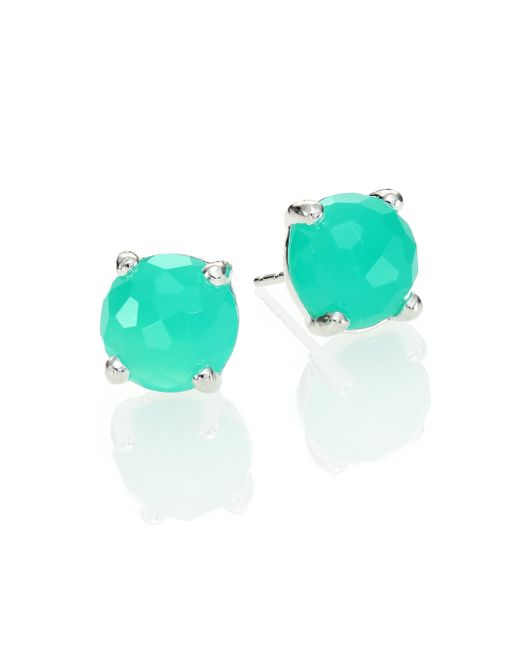 Ippolita   Green Rock Candy Chrysoprase & Sterling Silver Mini Stud Earrings   Lyst