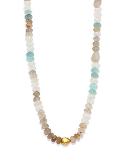 Lena Skadegard | Metallic Dunna Cielo Semi-precious Multi-stone & 18k Yellow Gold Beaded Strand Necklace | Lyst