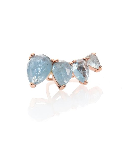 Jacquie Aiche | Blue 14K Rose-Gold and Aquamarine Ear Cuff | Lyst