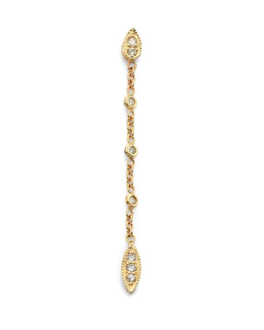 Jacquie Aiche | Metallic Diamond & 14k Yellow Gold Tinkerbell Chain Single Drop Earring | Lyst