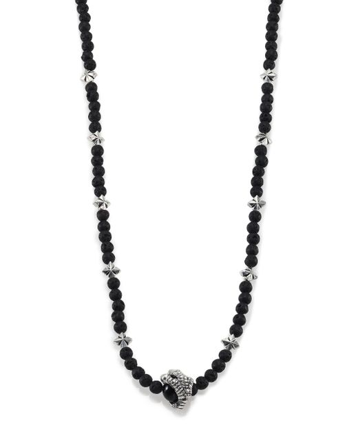 King Baby Studio | Metallic Lava Rock & Black Onyx Raven Claw Beaded Necklace | Lyst