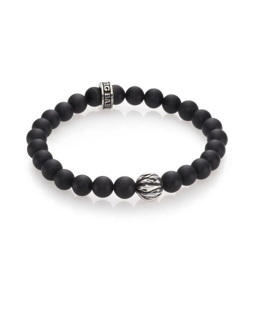 King Baby Studio | Black Lava Rock & Onyx Beaded Bracelet for Men | Lyst