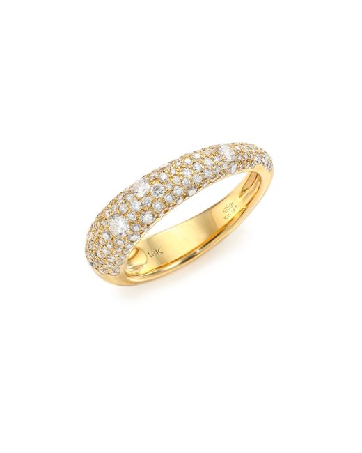 Kwiat | Metallic Cobblestone Diamond & 18k Yellow Gold Band Ring | Lyst
