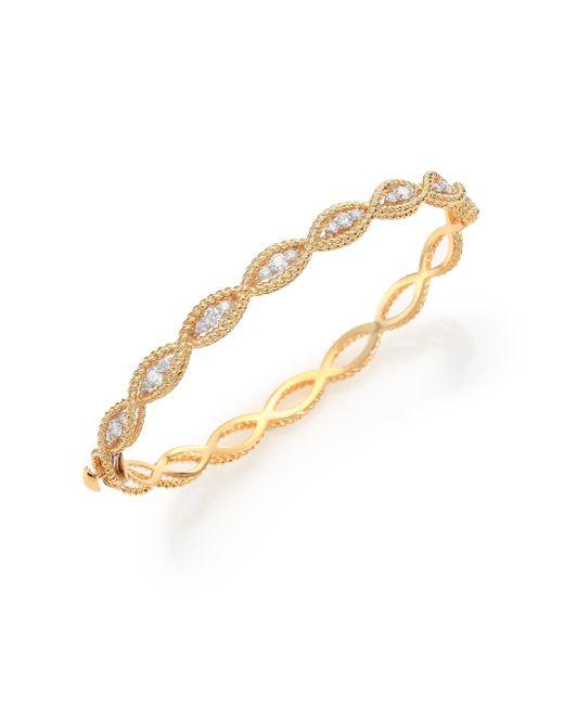 Roberto Coin | Metallic Barocco Diamond & 18k Yellow Gold Braided Bangle Bracelet | Lyst