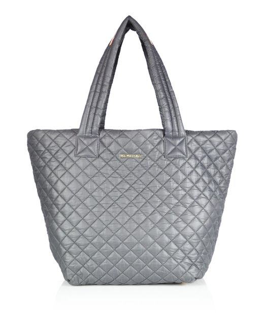MZ Wallace | Metallic Metro Medium Quilted Nylon Tote | Lyst