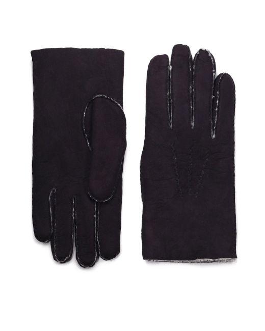 Saks Fifth Avenue | Black Shearling Gloves for Men | Lyst