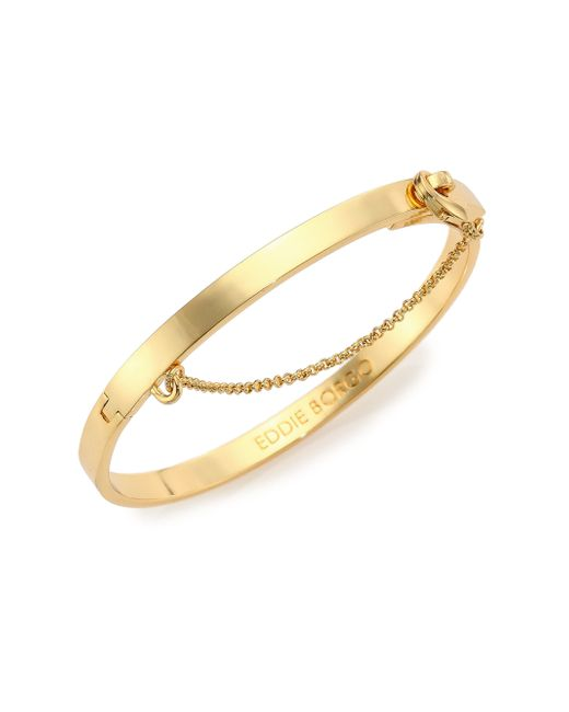 Eddie Borgo | Metallic Thin Safety Chain Bracelet/goldtone | Lyst