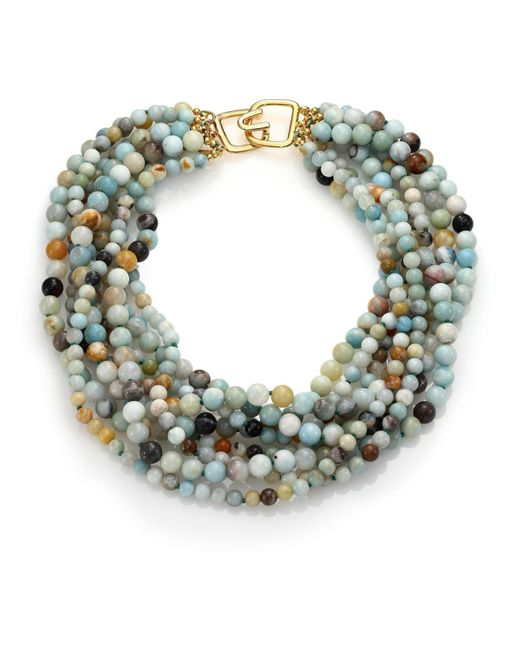 Kenneth Jay Lane   Multicolor Beaded Eight-strand Necklace   Lyst